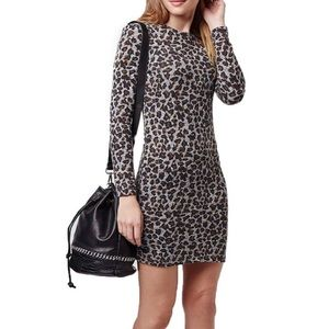 Topshop Leopard Print Body-Con Mini Dress!